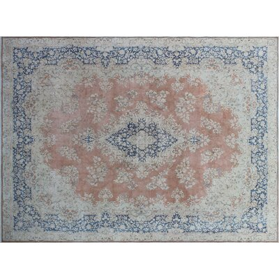 One-of-a-Kind Tommie Fine Distressed Hand-Knotted Rust Area Rug