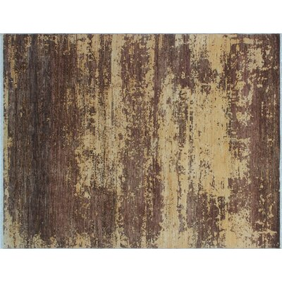 One-of-a-Kind Jackson Hand-Knotted Brown Premium Wool Area Rug