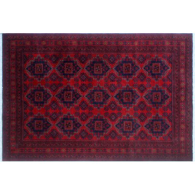 Alban Hand-Knotted Rectangle Red Area Rug