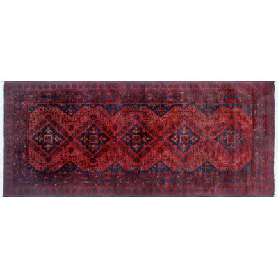 One-of-a-Kind Alban Hand-Knotted Red Indoor Wool Area Rug