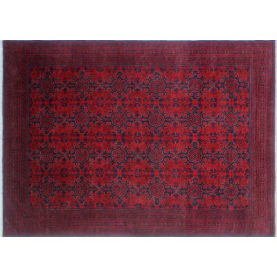Alban Hand-Knotted Red Indoor Area Rug