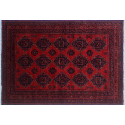 Alban Hand-Knotted Red Indoor Premium Wool Area Rug