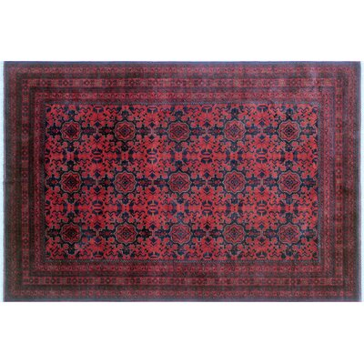 Alban Luxury Hand-Knotted Dark/Red Area Rug