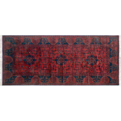 Alban Hand-Knotted Dark/Red Area Rug