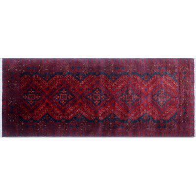 Alban Luxury Hand-Knotted Red Area Rug