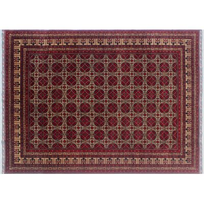 One-of-a-Kind Linda Hand-Knotted Rectangle Red Area Rug