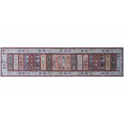 Acer Hand-Knotted Red Premium Wool Area Rug