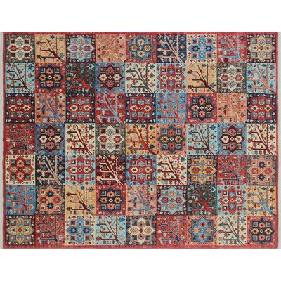 Acer Hand-Knotted Rust Area Rug
