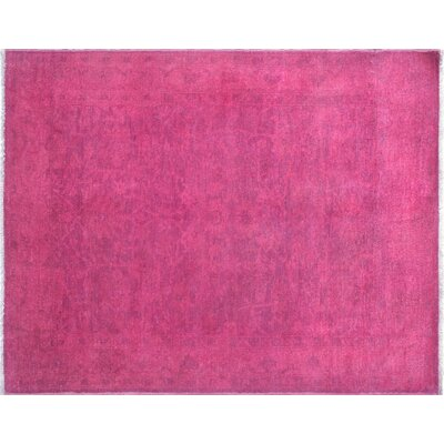 One-of-a-Kind Boone Overdyed Hand-Knotted Purple/Pink Area Rug