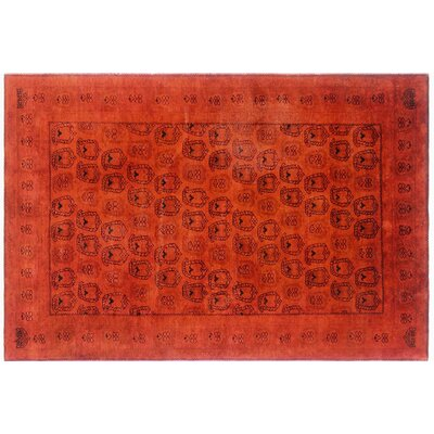 Cara Hand-Knotted Orange Area Rug