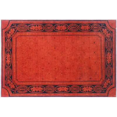 One-of-a-Kind Lani Hand-Knotted Orange Area Rug