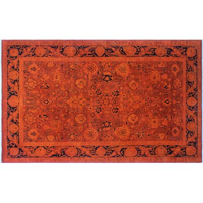 One-of-a-Kind Diandra Hand-Knotted Orange Area Rug