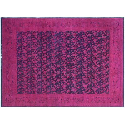 One-of-a-Kind Syndra Overdyed Hand-Knotted Purple/Pink Area Rug