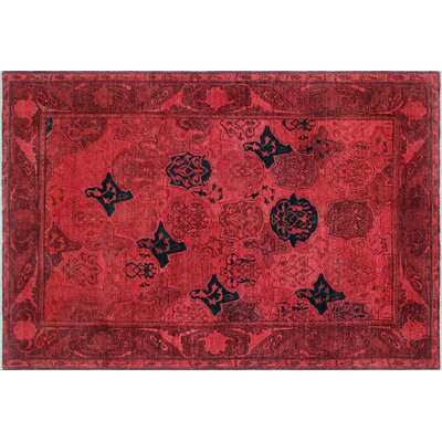 Jillian Hand-Knotted Red Area Rug