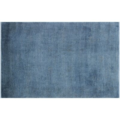 Adair Overdyed Hand-Knotted Blue Area Rug