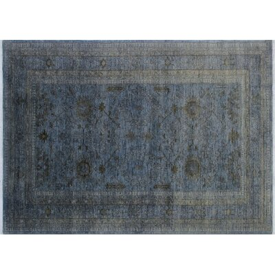 Adamsburg Overdyed Hand-Knotted Gray/Blue Area Rug