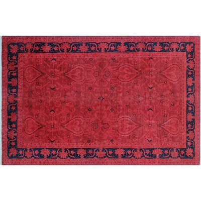 One-of-a-Kind Marielle Overdyed Hand-Knotted Pink Area Rug
