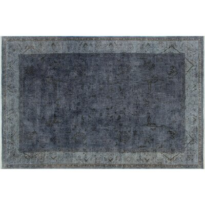 One-of-a-Kind Albers Overdyed Hand-Knotted Gray Area Rug