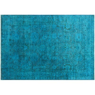 One-of-a-Kind Neilson Overdyed Hand-Knotted Teal/Blue Area Rug