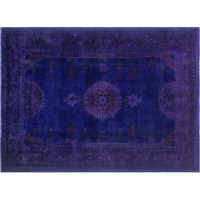 One-of-a-Kind Tasha Hand-Knotted Purple Area Rug