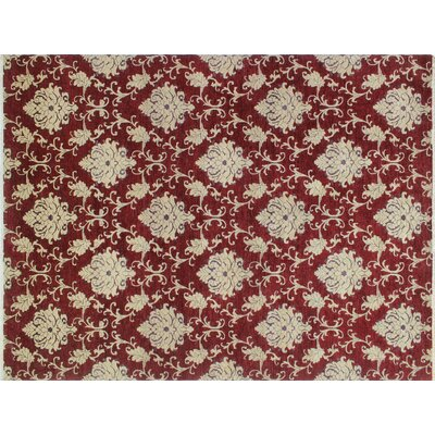 Montague�Hand-Knotted Red Area/Beige Rug