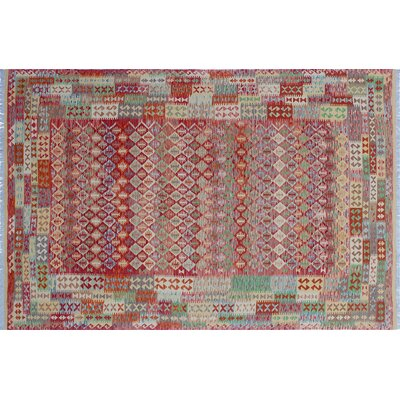 One-of-a-Kind Cortez Kilim Hand-Woven Red Indoor Area Rug