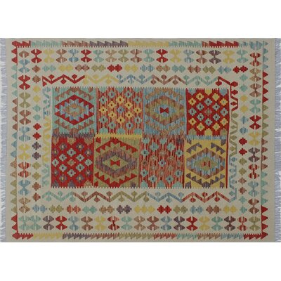 Cortez Kilim Hand-Woven Rectangle Ivory Area Rug