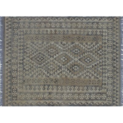 One-of-a-Kind Rucker Kilim Hand-Woven Ivory Area Rug
