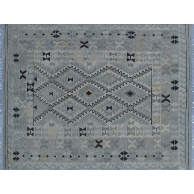 One-of-a-Kind Vallejo Kilim Southwestern Hand-Woven Beige Wool Area Rug