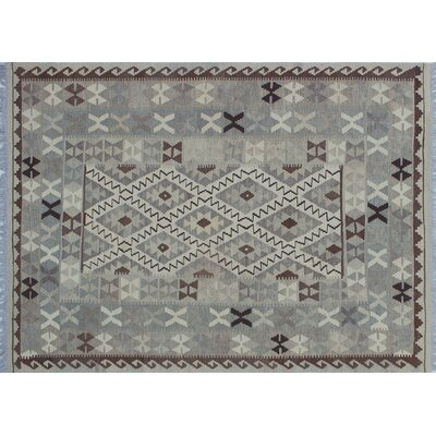 One-of-a-Kind Hancock Kilim Hand-Woven Beige Area Rug