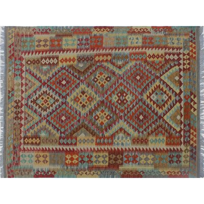 One-of-a-Kind Cortez Kilim Hand-Woven Red/Orange Area Rug