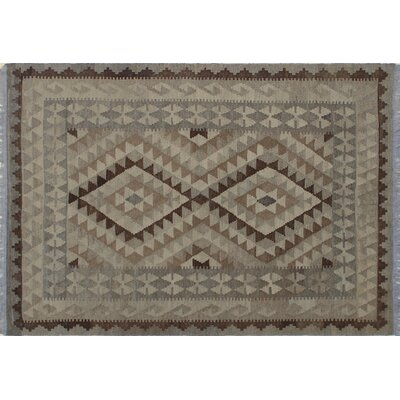 One-of-a-Kind Vallejo Kilim Geometric Hand-Woven Beige Area Rug