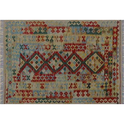 One-of-a-Kind Aulay Hand-Woven Gold Wool Area Rug