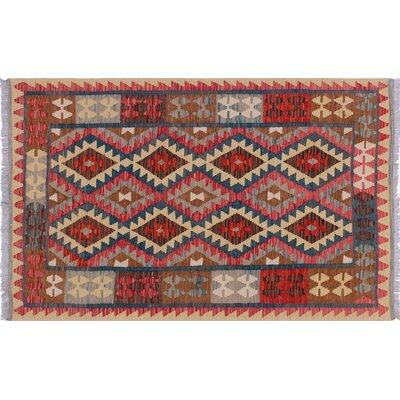 Vallejo Kilim Hand-Woven Red Indoor Area Rug