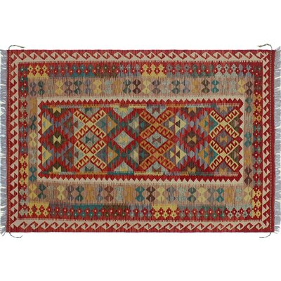 One-of-a-Kind Rucker Kilim Southwestern Hand-Woven Red Area Rug