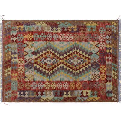 One-of-a-Kind Rucker Kilim Hand-Woven Rectangle Ivory Area Rug