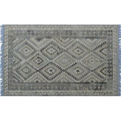 One-of-a-Kind Vallejo Kilim Hand-Woven Rectangle Gray Area Rug