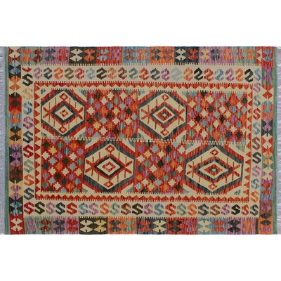 One-of-a-Kind Rucker Kilim Southwestern Hand-Woven Red Indoor Area Rug