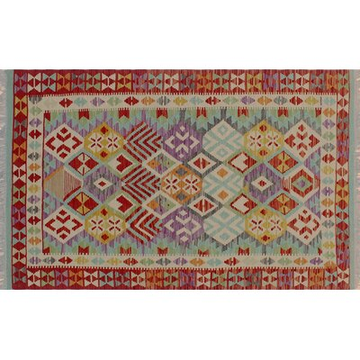 One-of-a-Kind Cortez Kilim Hand-Woven Rectangle Red Area Rug