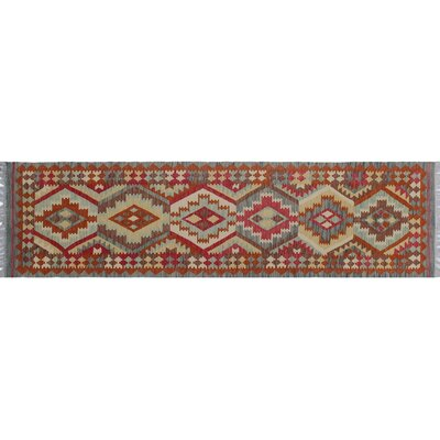 Vallejo Kilim Geometric Hand-Woven Blue Area Rug