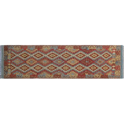 One-of-a-Kind Vallejo Kilim Hand-Woven Brown Wool Area Rug