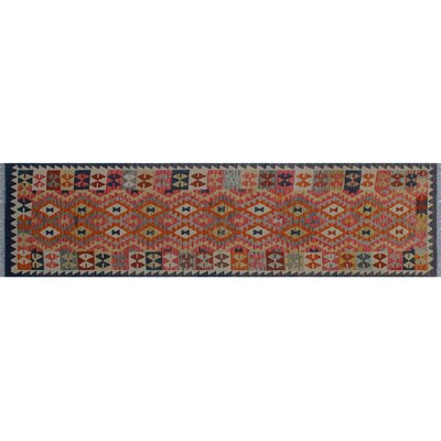 One-of-a-Kind Vallejo Kilim Southwestern Hand-Woven Blue Area Rug