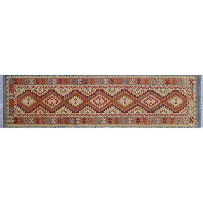 One-of-a-Kind Rucker Kilim Southwestern Hand-Woven Gold WoolArea Rug