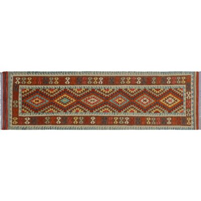 One-of-a-Kind Rucker Kilim Geometric Hand-Woven Brown Area Rug