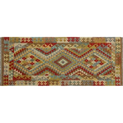 One-of-a-Kind Mcgill Kilim Flat-weave Hand-Woven Red Area Rug