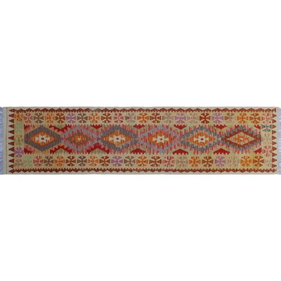 One-of-a-Kind Vallejo Kilim Hand-Woven Gold Area Rug