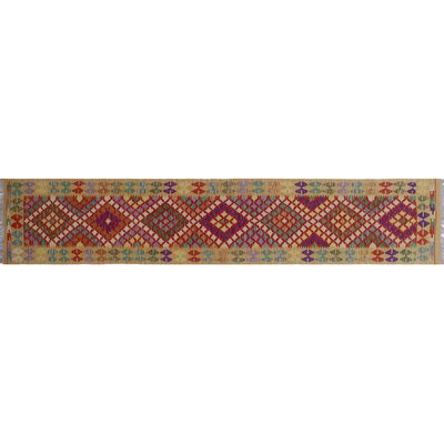 One-of-a-Kind Rucker Kilim Hand-Woven Rust Red Area Rug
