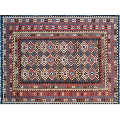 One-of-a-Kind Mcgill Kilim Hand-Woven Brown Premium Wool Area Rug