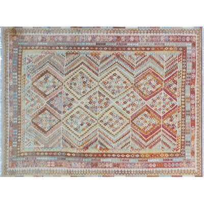 Cortez Kilim Hand-Woven Red/Green Area Rug