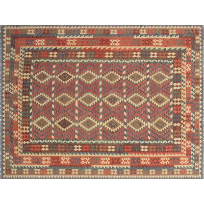 One-of-a-Kind Cortez Kilim Hand-Woven Flat-woven Rust Area Rug